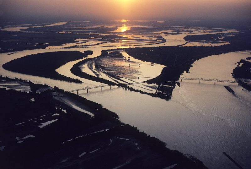 Confluence of the Mississippi River and Ohio River