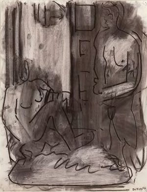 <em>One Seated and One Standing Figure</em>, 1979