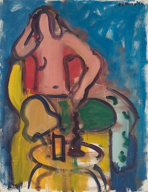 <em>Seated Nude with Green Pants</em>, 1970