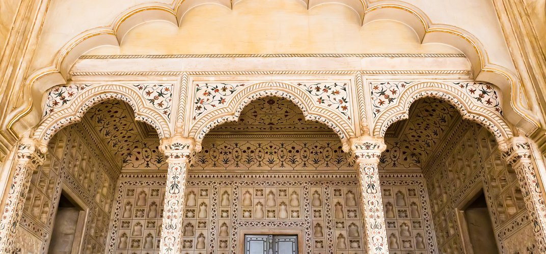 Architectural detail from the Red Fort, Agra