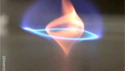 Researchers Discover the Blue Whirl, a New Type of Flame