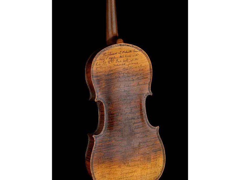 Conn's Civil War violin