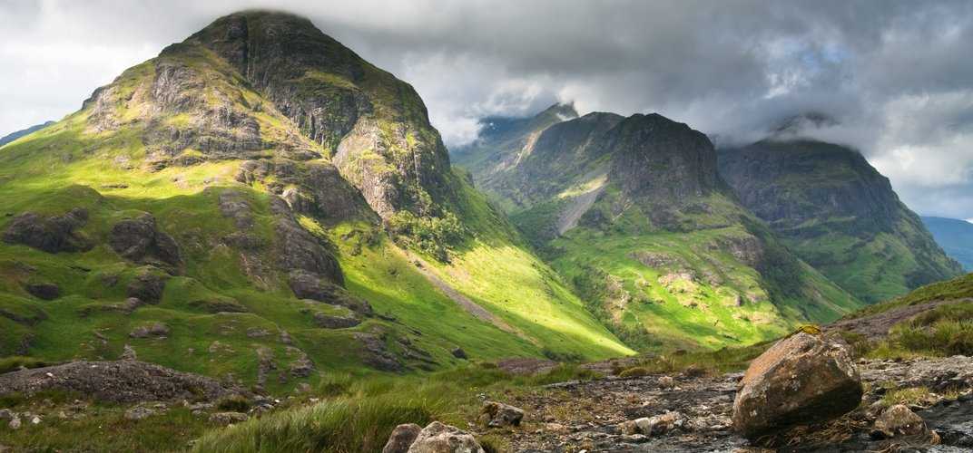 The brooding landscape of Glencoe