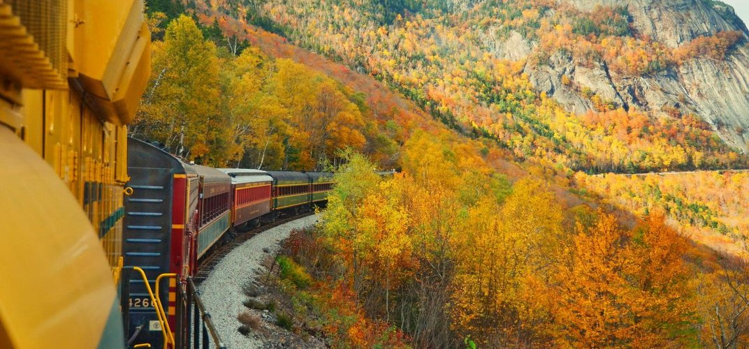 Travel through New England aboard the Conway Scenic Railway. Credit: Debbe Hill