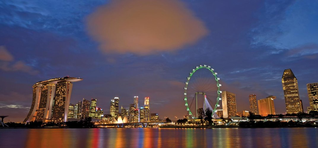 Singapore in the evening