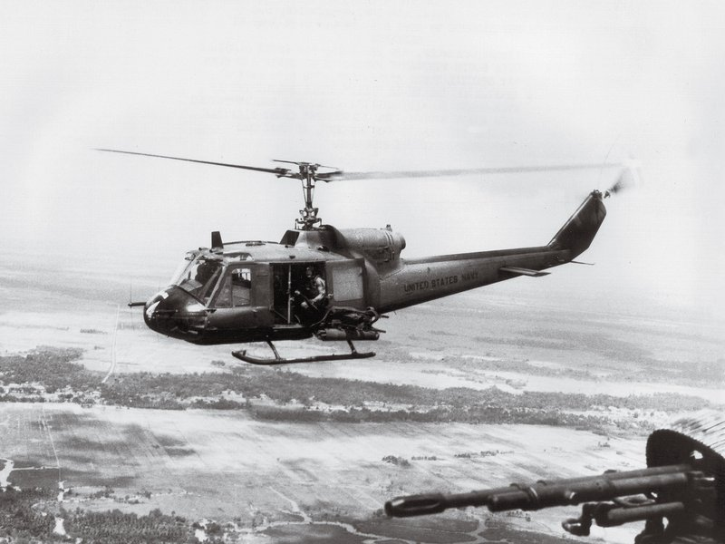 Two Bell UH-1Bs
