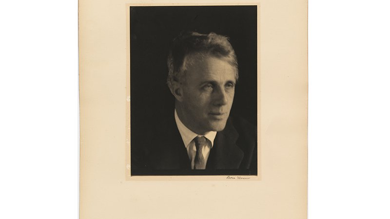 Robert Frost by Doris Ulmann, platinum print, 1929.