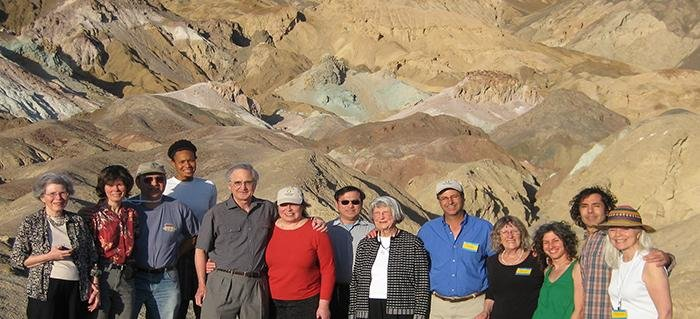 Smithsonian travelers in Death Valley