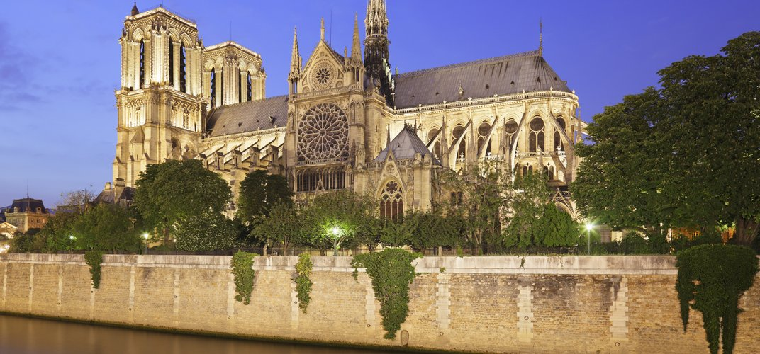 The famous Notre Dame Cathedral, Paris