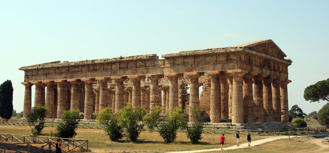 One of the famous Greek temples at Paestum in southern Italy