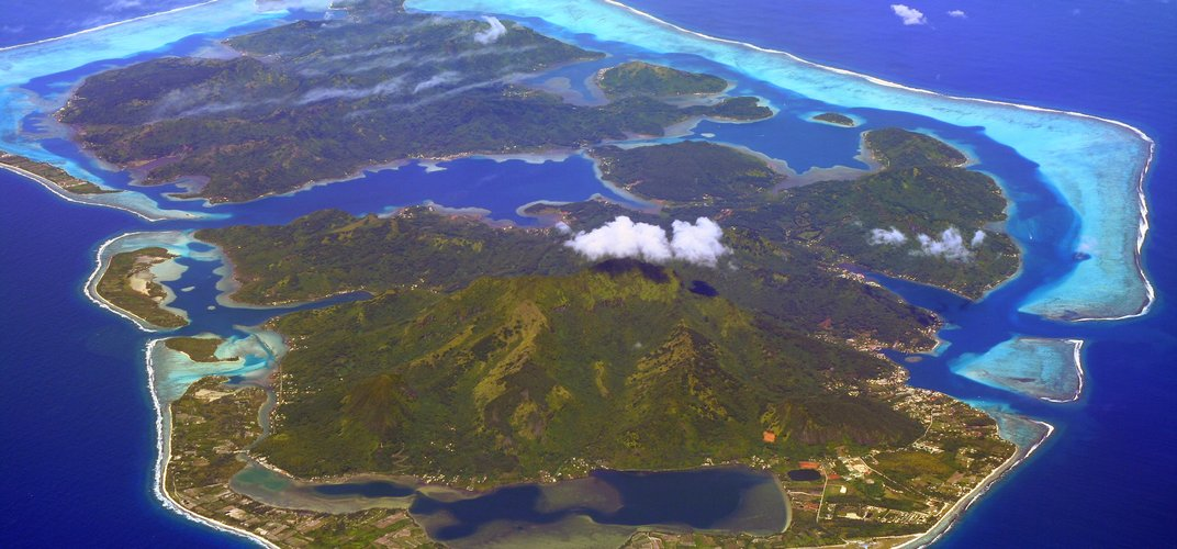 The island of Huahine in the Society Islands