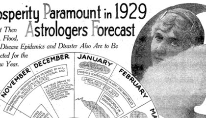 Astrologers Predict 1929 Will Be Year of Prosperity