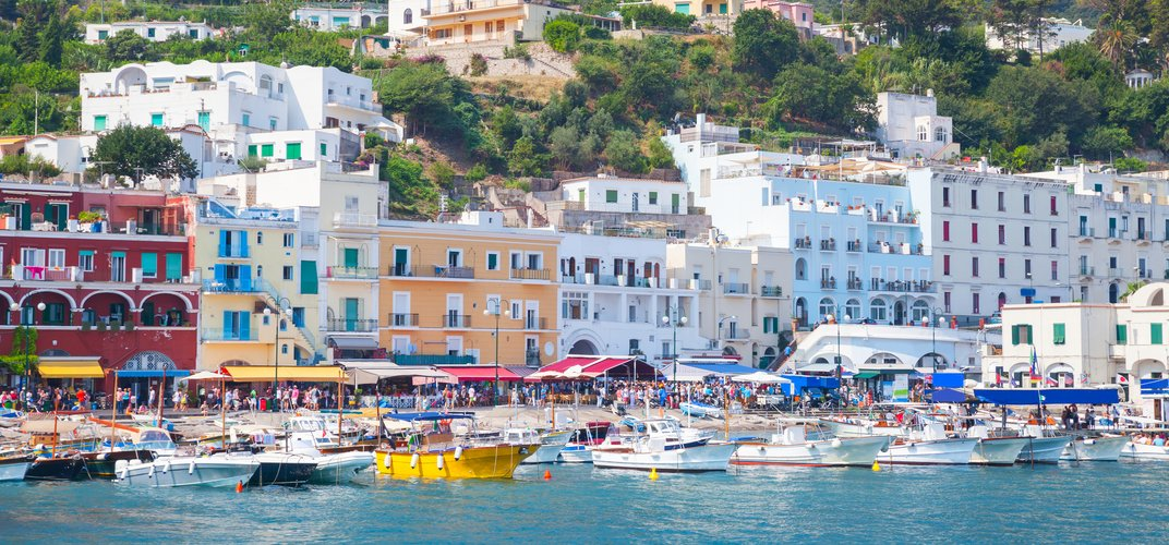 Port on the island of Capri