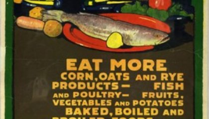 American Food Posters From World War I and II