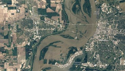 A View From Above of Memphis Flooding