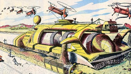 Giant Automatic Highway Builders of the Future