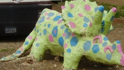 Dinosaur Sighting: Polka-Dot Triceratops