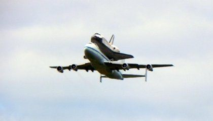 Discovery Touches Down at Dulles International Airport