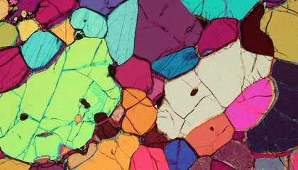 These Thin Sections of Rock Look Like Beautiful Stained Glass