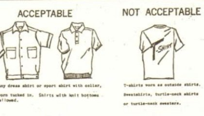 Dress Codes and Etiquette, Part 1: What Not to Wear to High School in the 1960s