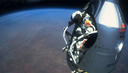 Three Views of Felix Baumgartner's Record-Breaking Skydive From the Stratosphere