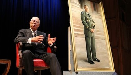The General is in the House; Colin Powell's Portrait Goes on View
