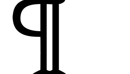 The Origin of the Pilcrow, aka the Strange Paragraph Symbol