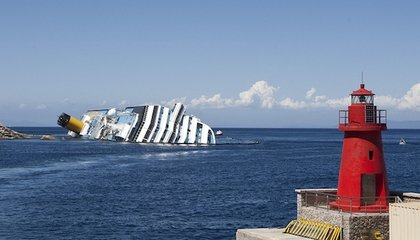Crashed Costa Concordia Is Still Sitting in the Water in Italy
