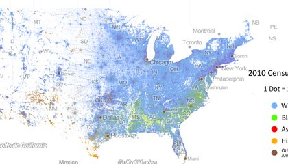 This Map, With a Dot for Every American, Shows the Country's Racial Divisions