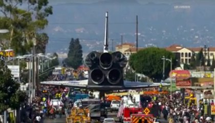 The Space Shuttle's Drive through L.A. – in Time-Lapse