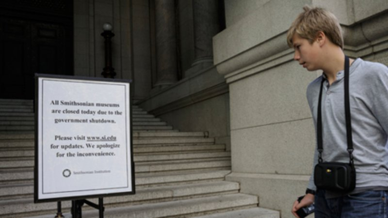 The Smithsonian Museums were closed from October 1 to October 16.