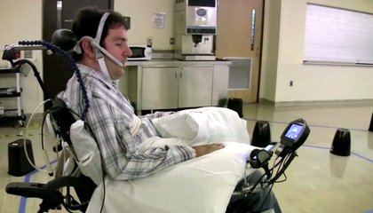 This Wheelchair Is Controlled By a Paralyzed Patient's Tongue