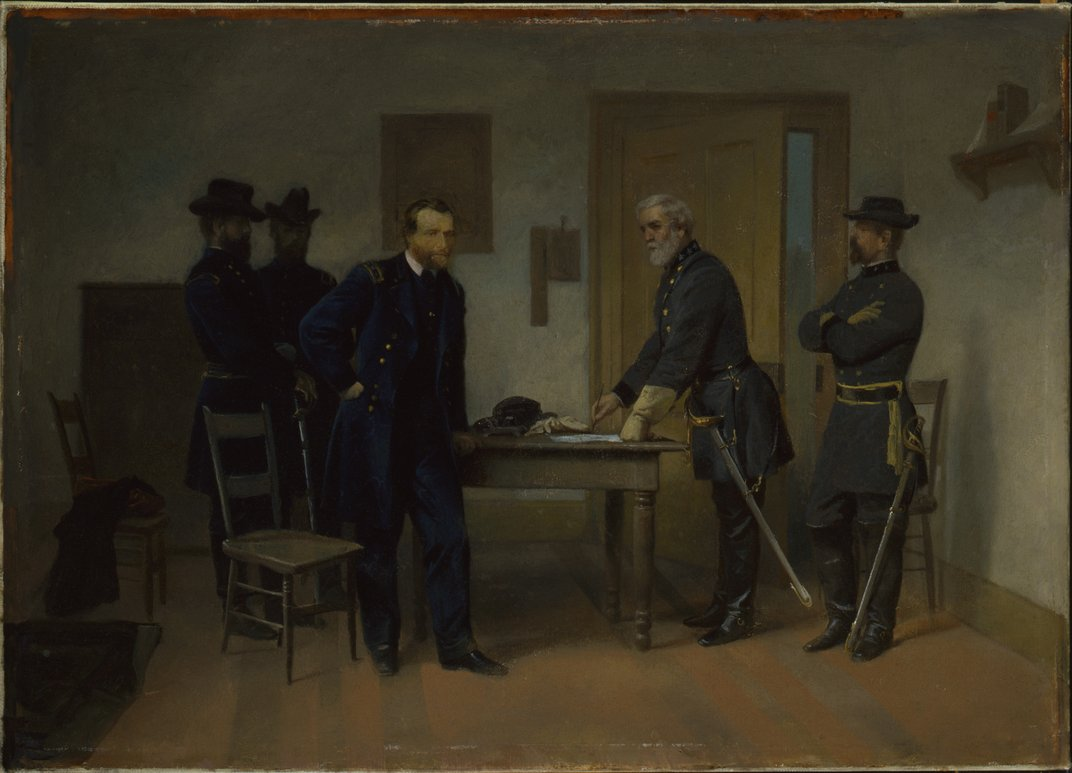 which general was better ulysses s grant or robert e lee at lee surrendering to grant at appomattox alonzo chappel smithsonian american art museum ulysses s