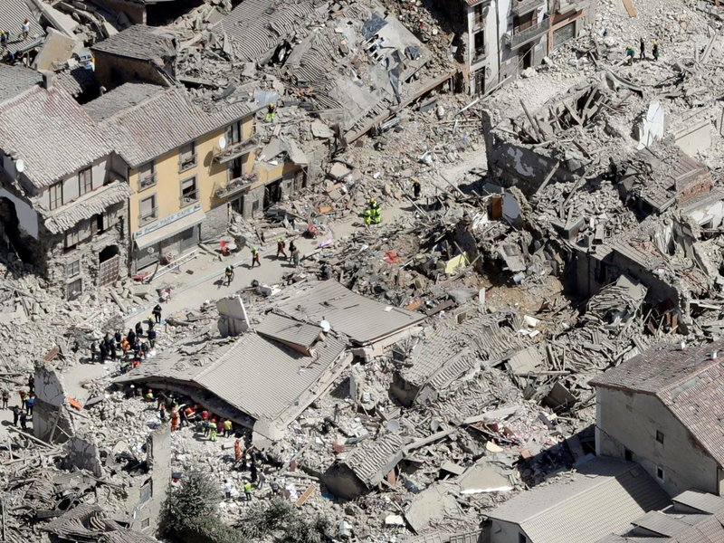 Earthquake Rubble in Italy