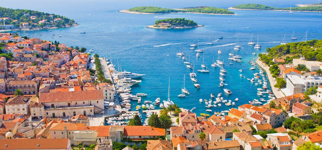 The coastal town of Hvar