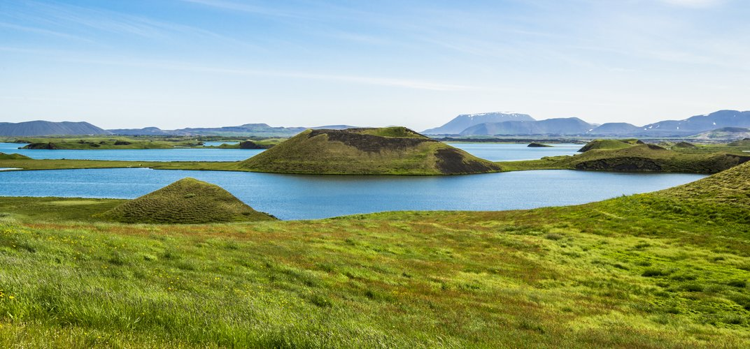 Landscape of Skutustadir, near Lake Myvatn