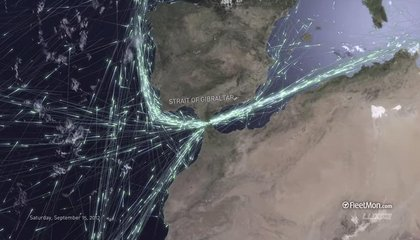See Shipping Traffic Move Through Straits Around the World