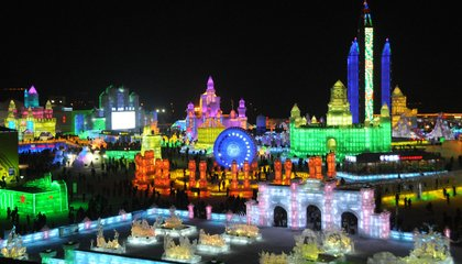One of the World's Largest Ice and Snow Carnivals Is Underway in China