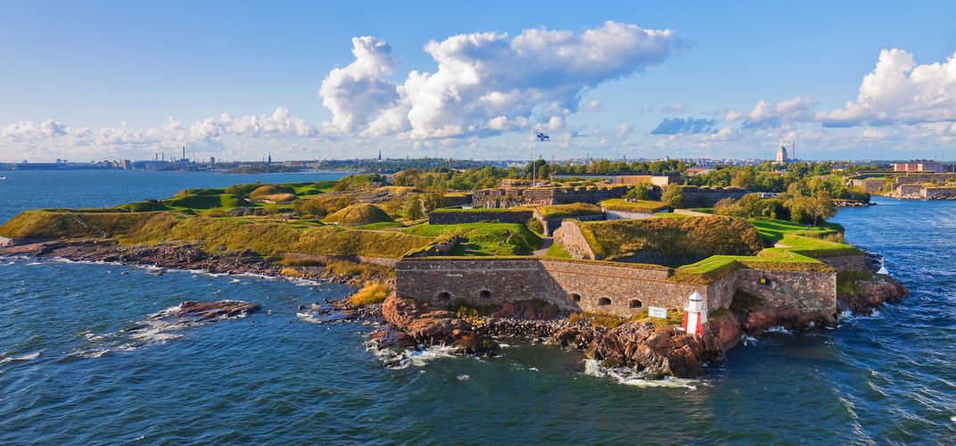The fortifications of Suomenlinna, a World Heritage site near Helsinki