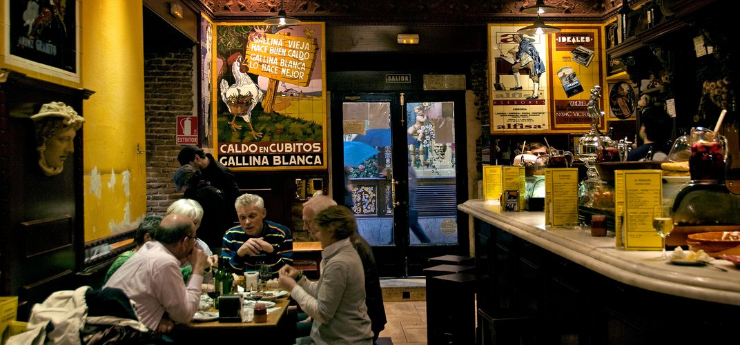 Traditional <i>tapas</i> bar in Spain. Credit: Peter Horree/Alamy