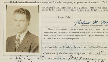 Document Deep Dive: Richard Nixon's Application to Join the FBI