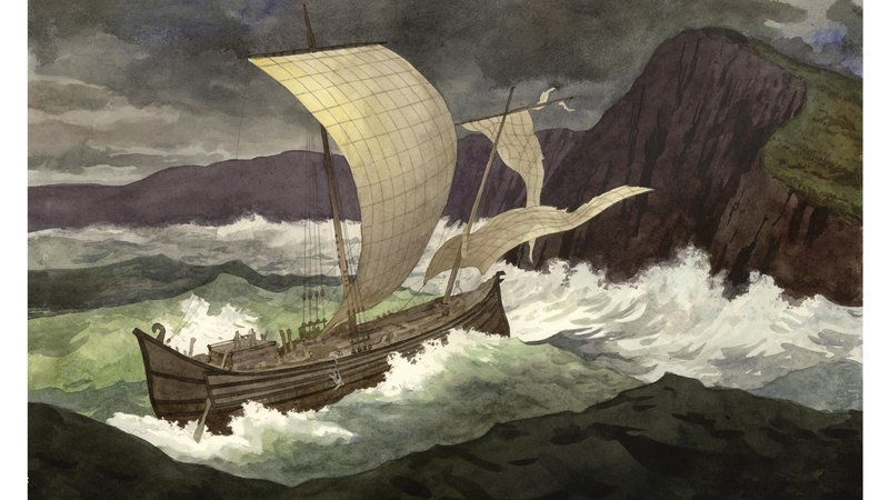 The immense size of the hull planks and anchors suggests the ship was a grain carrier, the only one found from antiquity. It probably smashed against the cliffs, its pieces scattered across a thousand feet of seabed.