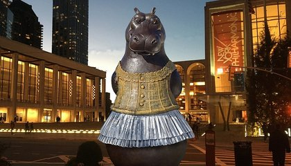 A Huge Bronze Hippo in a Tutu Is Coming to Lincoln Center