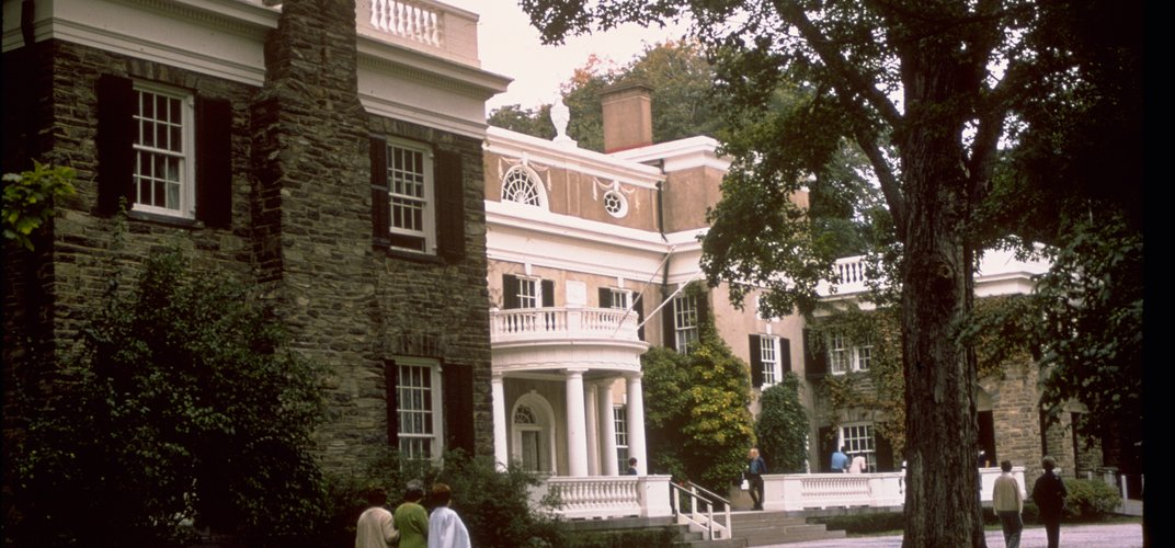 The Franklin Delano Roosevelt historic home at Hyde Park