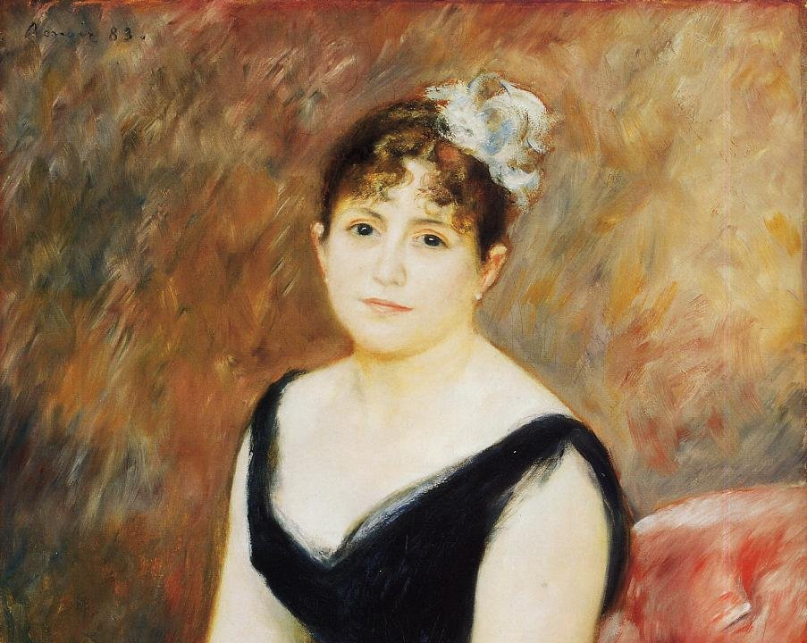 "Madame Leon Clapisson, Renoir, 1883 <a href=""http://www.wikipaintings.org/en/pierre-auguste-renoir/madame-leon-clapisson-marie-henriette-valentine-billet-1883"">Art Institute of Chicago / WikiPaintings</a>"
