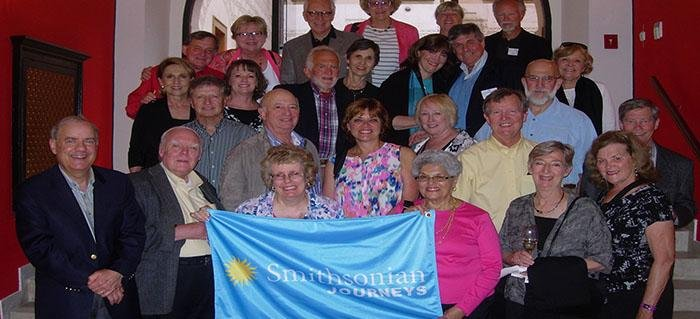 Smithsonian travelers at dinner on our Old World Europe trip