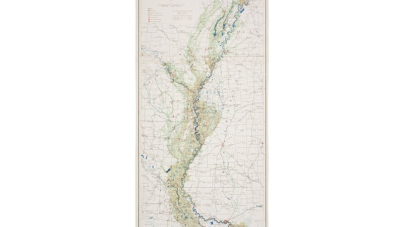 Map of the Mississippi River Flood of 1927