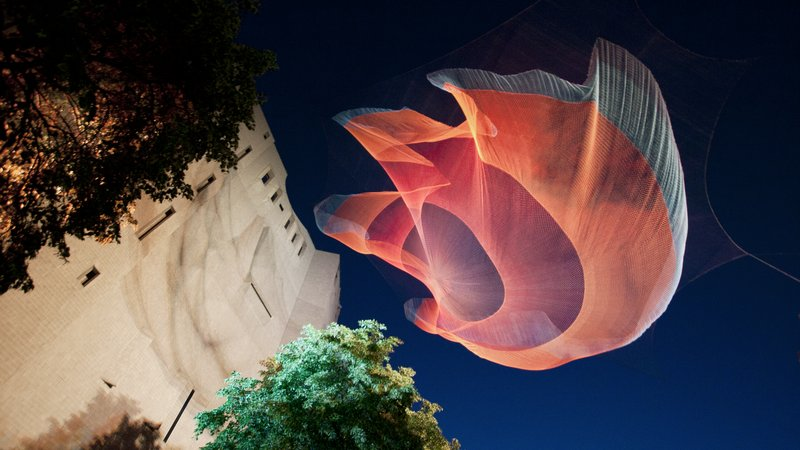 Echelman's sculpture, <i>1.26</i>, premiered at the Denver Art Museum in the summer of 2010.