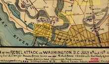 Civil War Map of Washington DC