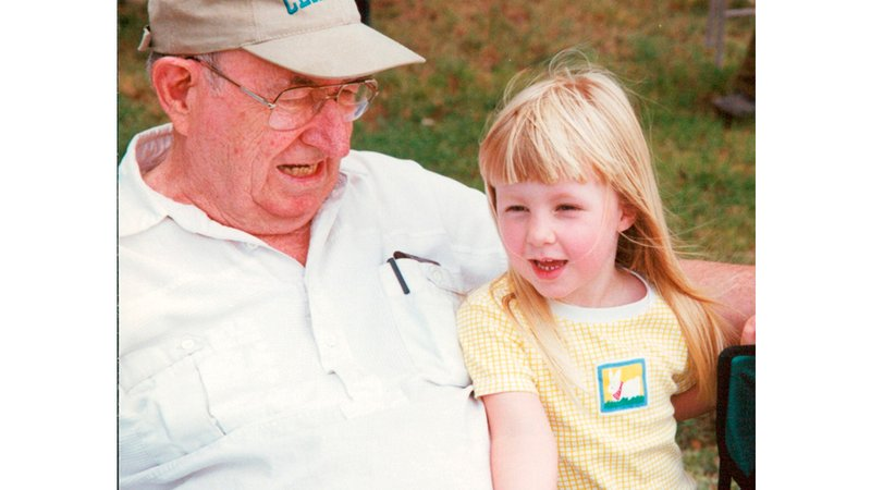 The author and her granddad